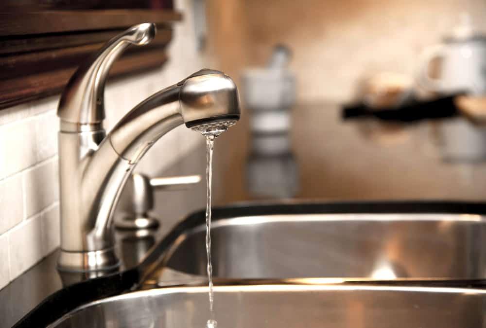 low water pressure in kitchen sink